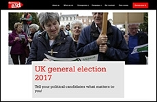 Christian Aid election website