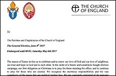 Church of England letter